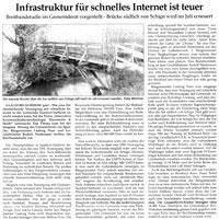 Infrastruktur für schnelles Internet ist teuer